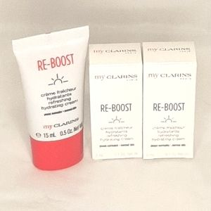NEW CLARINS RE-BOOST HYDRATING CREAM SAMPLE BUNDLE